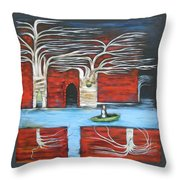 The Small Boat Throw Pillow