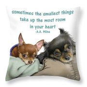 The Smallest Things Square Format Throw Pillow
