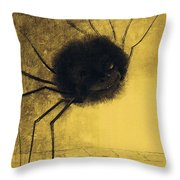 The Smiling Spider Throw Pillow