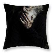 The Smoker Throw Pillow