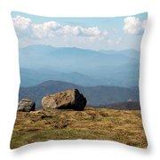 The Smokies From Roan Mountain I Throw Pillow