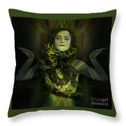 The Snake Charmer Throw Pillow