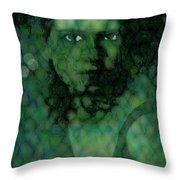 The Snake Lady Throw Pillow