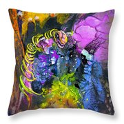 The Snake The Rose And The Black Angel Throw Pillow