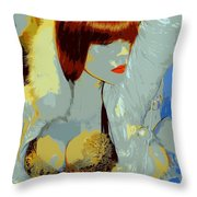 The Snow Bunny Throw Pillow