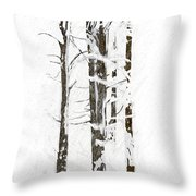 The Snow Just Won't Stop Throw Pillow