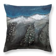 The Snow Throw Pillow