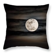 The Snow Moon Is Arising  Throw Pillow