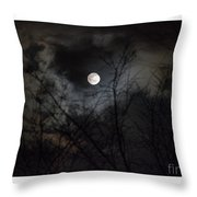 The Snow Moon Throw Pillow