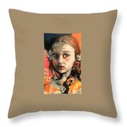 The Snow Princess Throw Pillow
