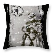 The Snowtrooper Throw Pillow