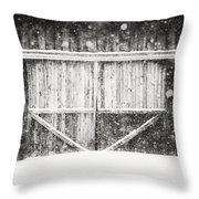 The Snowy Barn II Throw Pillow