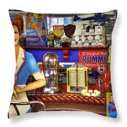The Soda Fountain Throw Pillow