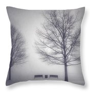 The Soft Breath Of Winter Throw Pillow