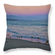 The Soft Side Of Sunset Throw Pillow