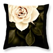 The Softest Rose Throw Pillow