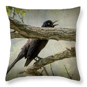 The Song Of Nature Throw Pillow