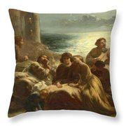 The Song Of The Troubadours Throw Pillow