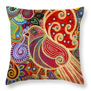 The Songstress In The Spring Throw Pillow
