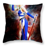 The Sorceress And The Sword Throw Pillow