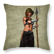 The Sorceress Mage Throw Pillow