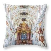 Lucerne's Jesuit Church  Throw Pillow