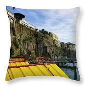 The Sorrento Coast Throw Pillow