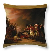 The Sortie Made By The Garrison Of Gibraltar Throw Pillow