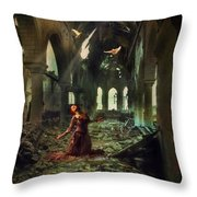 The Soul Cries Out Throw Pillow