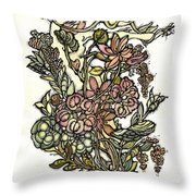 The Soul Of Wildflowers Throw Pillow