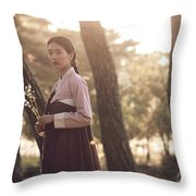 The Sound Of A Flower Throw Pillow