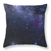 The Southern Sky And Milky Way Throw Pillow