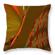 The Space Between Two Forces Abstract Throw Pillow