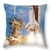 The Space Shuttle Discovery And Its Seven Throw Pillow