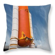 The Space Shuttle Launch System Throw Pillow by Jim Thompson