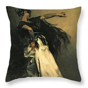 The Spanish Dancer Throw Pillow