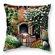 The Spanish Gardens Throw Pillow