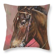 The Spanish Mule Throw Pillow