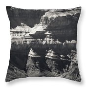 The Spectacular Grand Canyon Bw Throw Pillow
