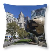 The Sphere Batterie Park Nyc Throw Pillow