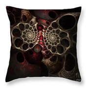 The Spiral Creature Throw Pillow