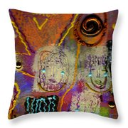 The Spiral Of Life Throw Pillow