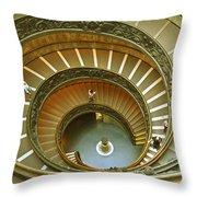 The Spiral Staircase Throw Pillow