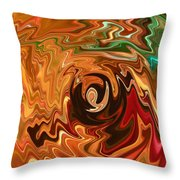 The Spirit Of Christmas - Abstract Art Throw Pillow
