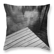 The Spirits Of Kripplebush Pond Throw Pillow