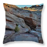 The Spotlight Fades At Valley Of Fire Throw Pillow