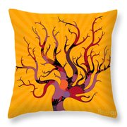 The Spotted Tree Throw Pillow