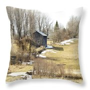 The Spring Melt Throw Pillow