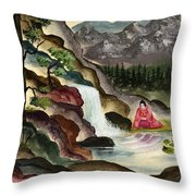 The Spring Of Youth Throw Pillow