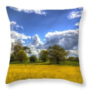 The Springtime Farm Throw Pillow